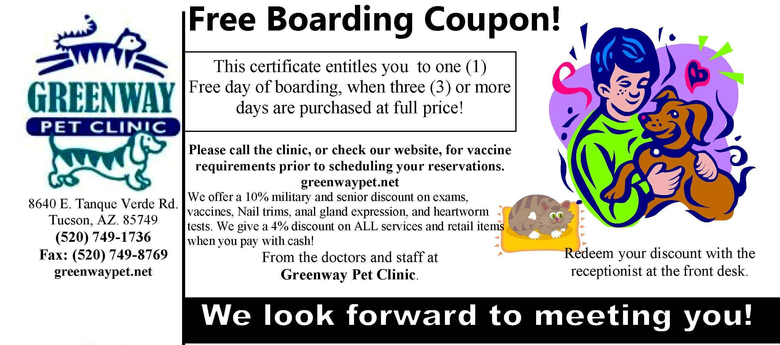 Boarding Coupon